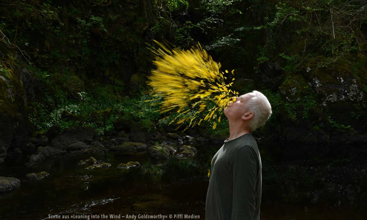 Szene aus »Leaning into the Wind – Andy Goldsworthy« © Piffl Medien